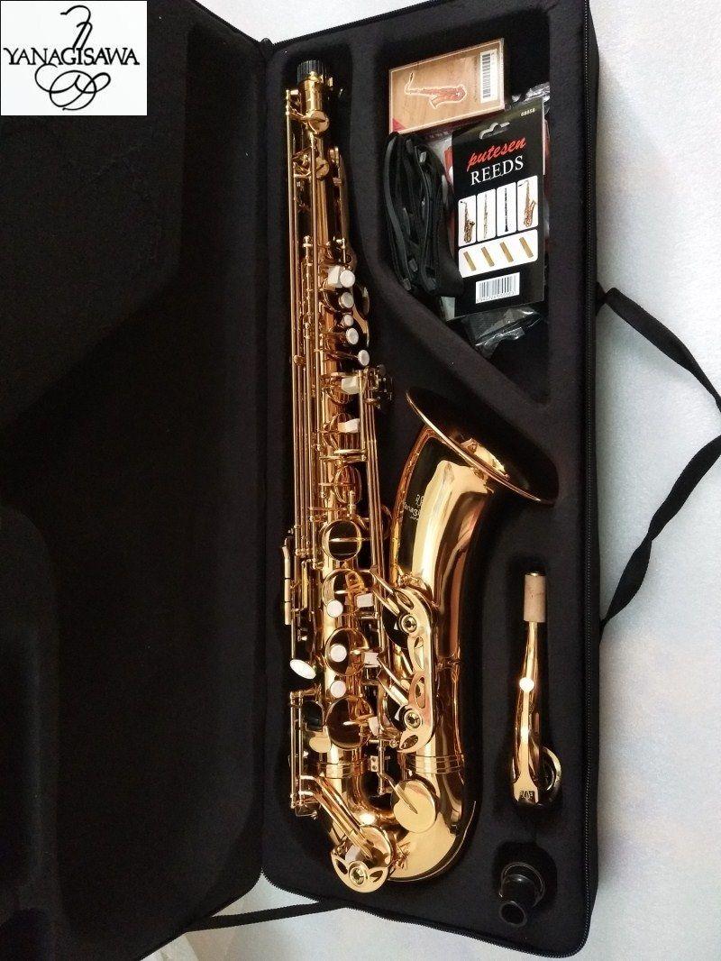 Neue Japanische Yanagisawa T-902 Tenor Saxophon B flache Lackiert gold musical instrument Tenor saxophon professionelle Mit fall