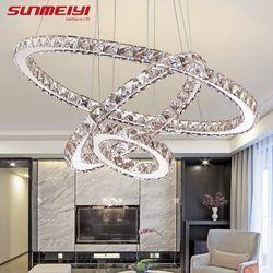 Moderne LED Lustre En Cristal Lumières Lampe Pour Salon Cristal Lustre Lustres Éclairage Pendentif Suspendus Plafonniers