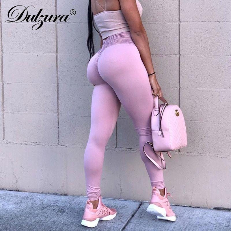 Dulzura 2018 automne hiver push up leggings femmes sexy sport leggins workout fitness taille haute sportifs legins