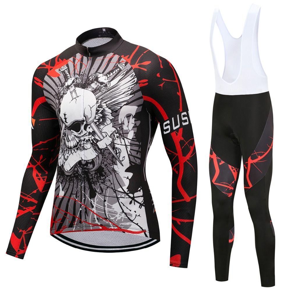 2018 radfahren kleidung männer langarm fahrrad Jersey set männlichen pro triathlon anzug fahrrad kleidung uniform tragen kleid skinsuit outfit
