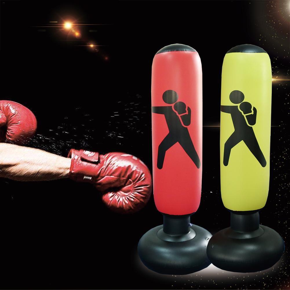 160 cm Boxing Boxsack Aufblasbare Freies-Stand Tumbler Muay Thai Training Druck Relief Bounce Zurück Sandsack mit Luft pumpe