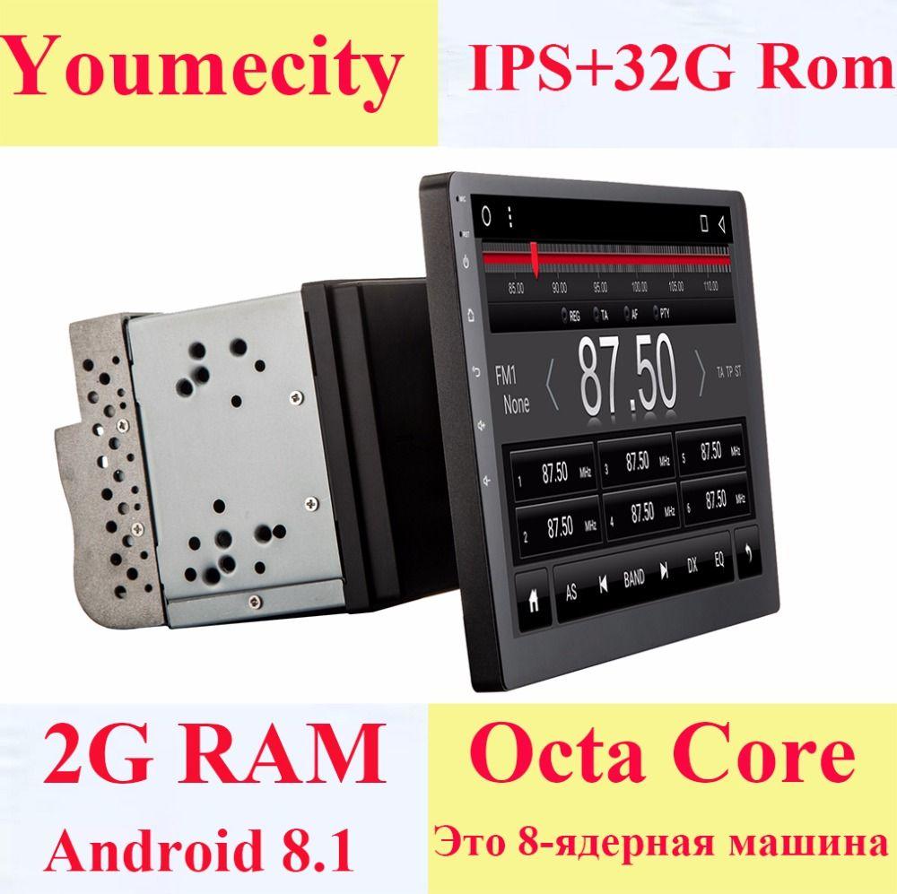 Lecteur multimédia DVD de voiture Youmecity 10 pouces 2 din Android 8.1 GPS + Wifi + Bluetooth + Radio + noyau Octa + écran tactile capacitif + Audio