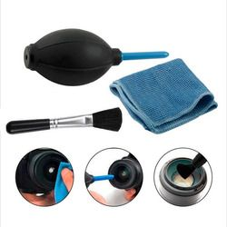 3in1 Dust Cleaner Camera Cleaning Lens Brush Air Blower Wipes Clean Cloth kit for for Gopro Canon Nikon Sony DSLR Camcorder VCR