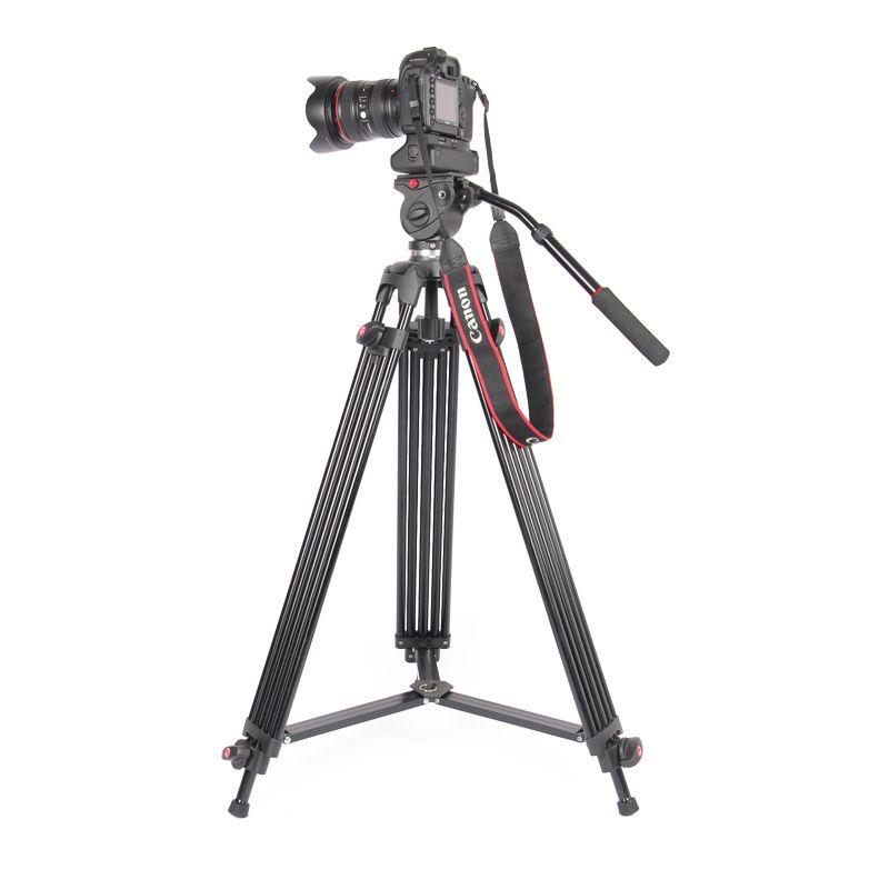 JieYang jy0606 jy-0606 Professional Tripod camera tripod/Video Tripod/Dslr VIDEO Tripod Fluid Head Damping for video
