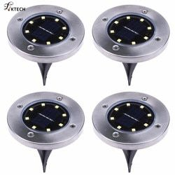 4pcs 8 LED Solar Light Ground Water-resistant Path Outdoor Solar Garden Light Yard Lawn Pathway LED Lighting Lamp Dropshipping
