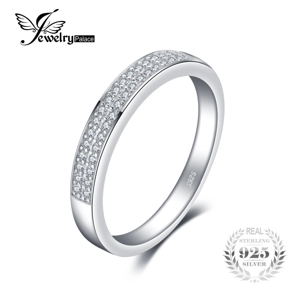JewelryPalace Classic Anniversary Channel Set Wedding Band Eternity Ring 925 Sterling Silver Jewelry For Women Birthday Present
