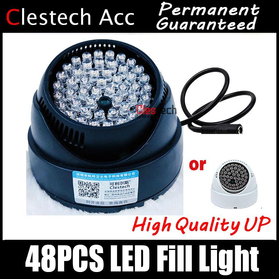 3.28 BigSale 48LED Illuminateur IR Infrarouge dôme CCTV Night light Vision 40 m Lampe Securit 48 Led 850nm 12 v livraison gratuite