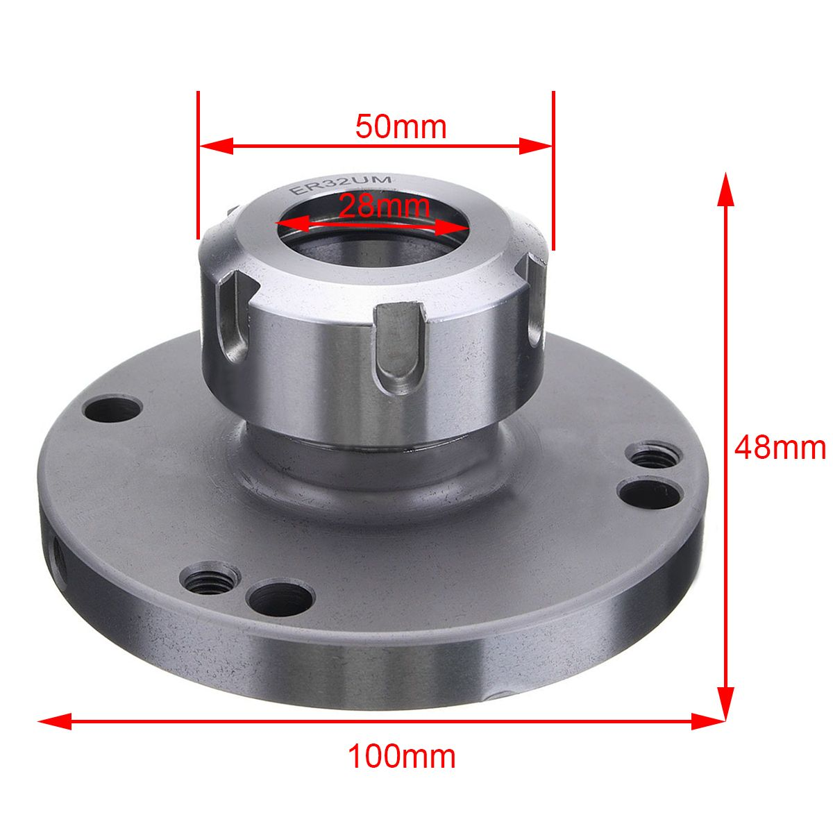 1pc Mayitr ER32 Collect Chuck 100mm Diameter High Speed Steel & 41Cr4 Milling Tools Parts