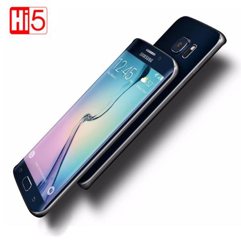 Entsperrt Samsung Galaxy S6 Rand G925F 5,1 zoll display Handy Octa Core 3 gb RAM 32 gb ROM GSM WCDMA LTE 16MP Kamera