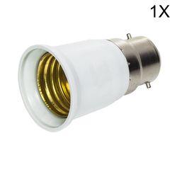 1x Grand Promortion B22 à E27 LED Base Ampoule Lampe Ignifuge Titulaire Adaptateur Convertisseur Socket Changement