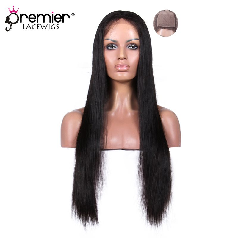 PREMIER LACE WIGS Silk Top Full Lace Wigs Indian Remy Hair Silky Straight [SFLW-SS]