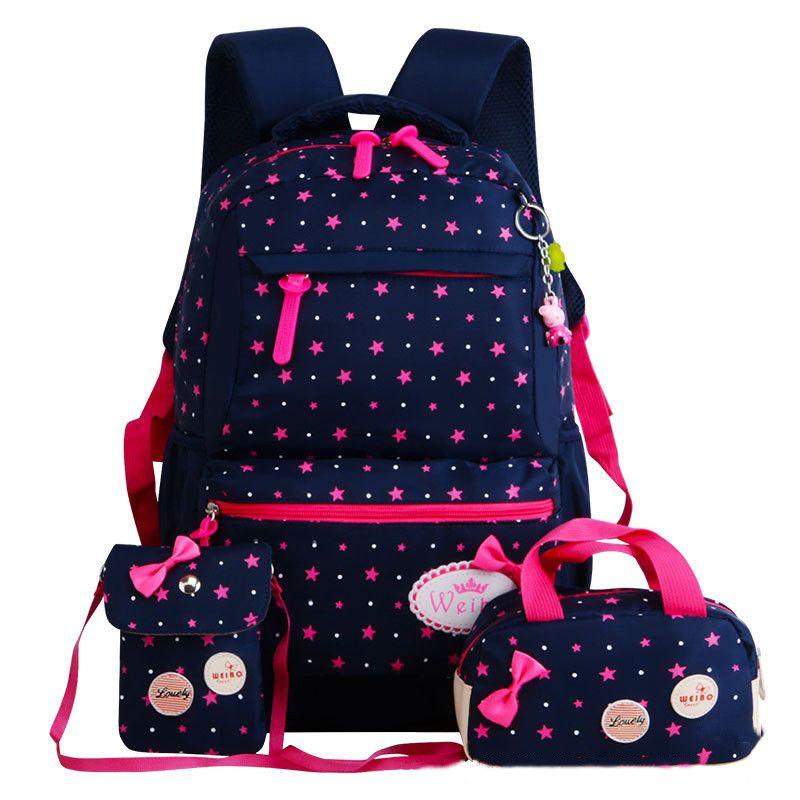 Fille Sacs D'école Pour Les Adolescents sac à dos set femmes épaule voyage sacs 3 Pcs/ensemble sac à dos mochila sac à dos