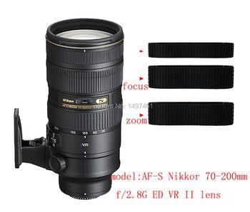 Lentille Zoom et focus Caoutchouc Anneau/Poignée En Caoutchouc De Réparation Succédané Pour Nikon AF-S 70-200mm f/2.8G ED VR II objectif