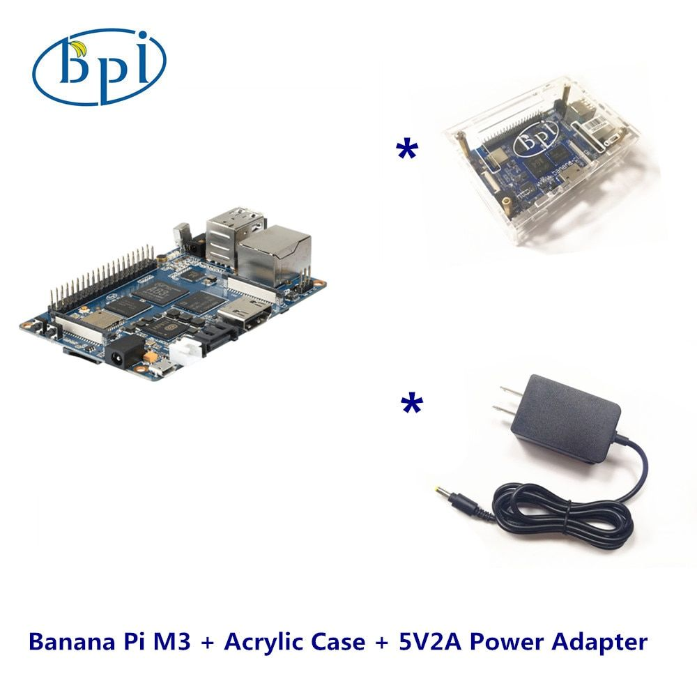 Banana Pi M3 +Acrylic Case+ 5V2A DC Power Set
