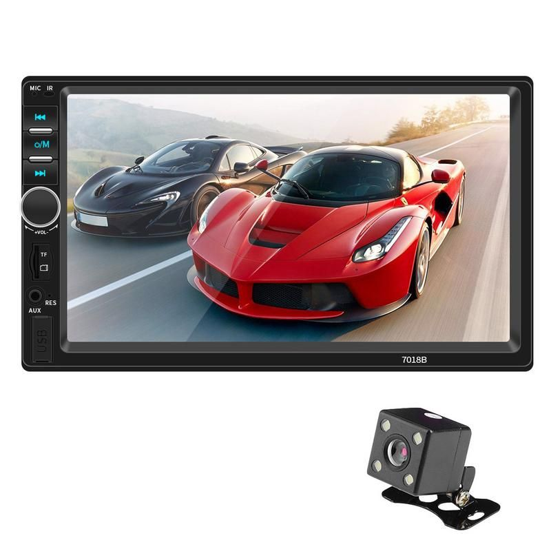 7 Inch Car Bluetooth Stereo Radio Car Dual Ingot MP5 Card Player Can Be Connected To the Camera Double 2 DIN Car MP5 Player