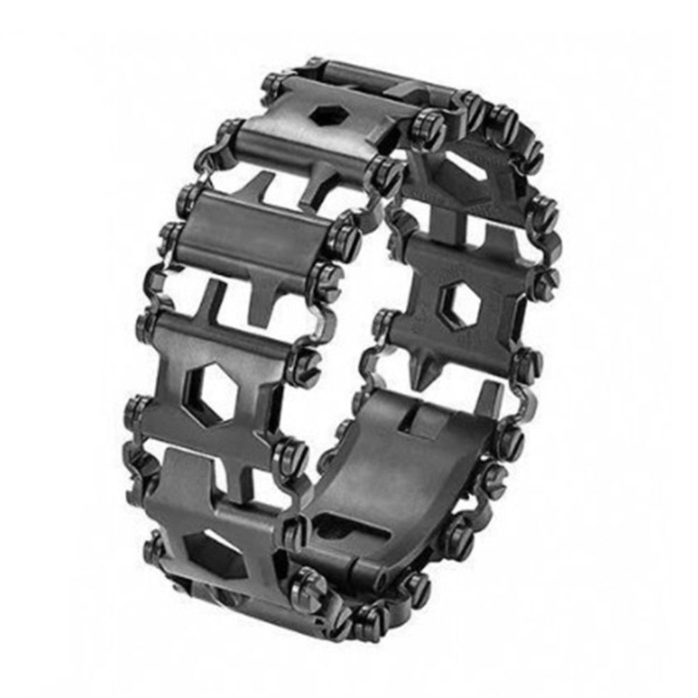 Multifunction Tread Bracelet Stainless Steel Outdoor Bolt Driver Tools Kit Travel Friendly Wearable Multitool