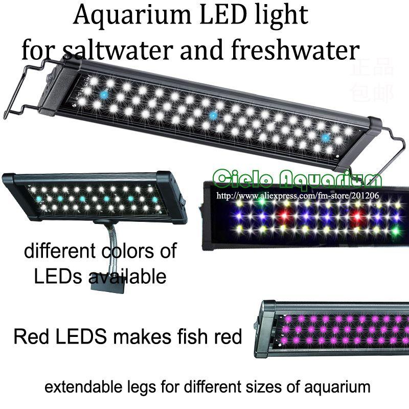 36 - 48 Hi Lumen LED freshwater plant saltwater marine <font><b>Aquarium</b></font> Fish tank LED Aquatic pet light lighting fixture lamp