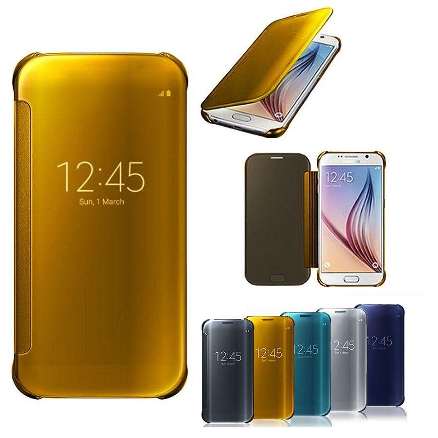Зеркало Smart View откидная крышка для iPhone X 6 S Samsung Galaxy S5 S6 S7 Edge S8 плюс Примечание 8 4 A3 A5 A7 Дело окно роскошь 100% новый