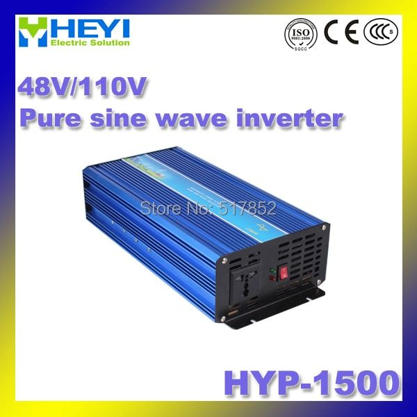 inverter HYP-1500 dc ac frequency inverter 48V/110V (input) 1500W 50/60Hz with Cooling fan Pure Sine Wave Inverter