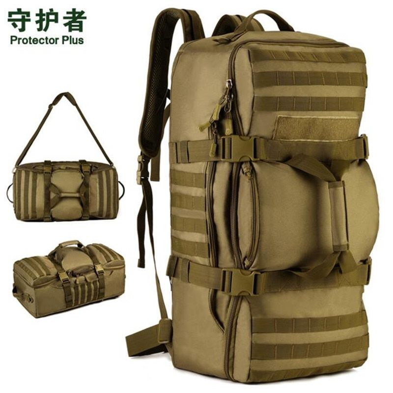 60L Multi-function Nylon Waterproof Rucksack Outdoor Sport Military Tactics Camping Backpack Brand New Molle Nag S073