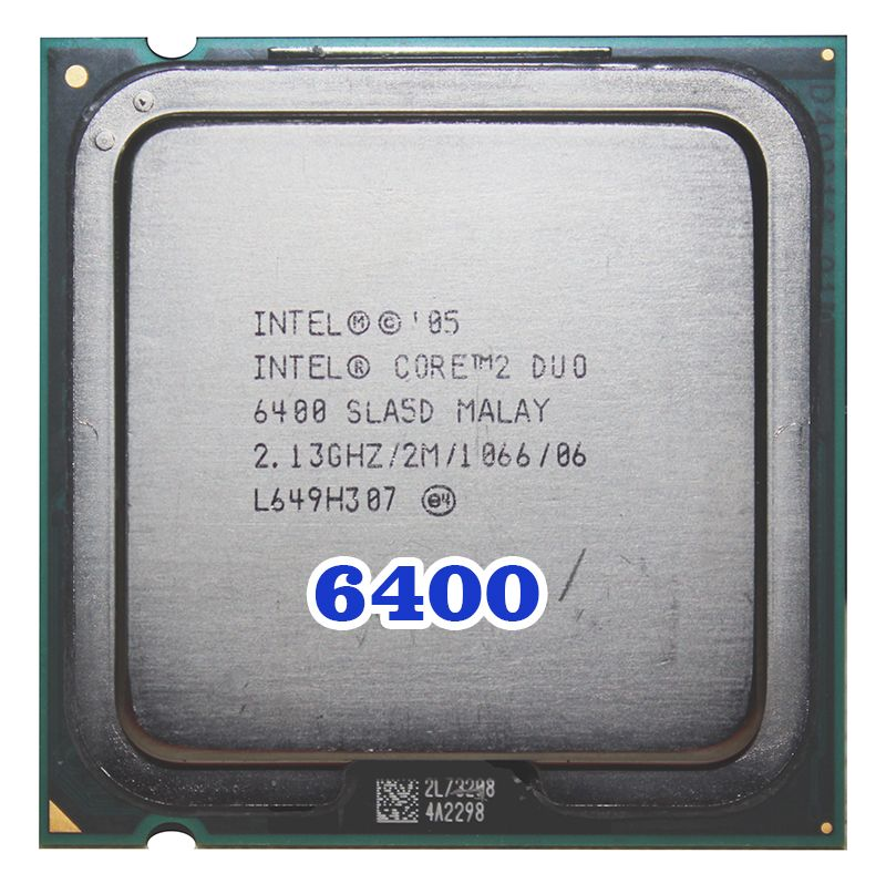 Original INTEL Core 2 Duo E6400 CPU Prozessor (2,13 Ghz/2 Mt/1066 MHz) 65 Watt buchse 775