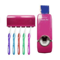 2017 de alta calidad de baño Sets nueva automático Pasta de dientes dispensador de cepillo de dientes conjunto
