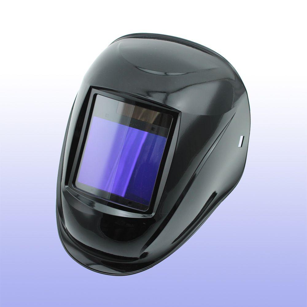 Casque de soudage à assombrissement automatique/masque de soudage/MIG MAG TIG (Grand-918I noir)/capteur 4arc/cellule solaire et batteries li-remplaçables