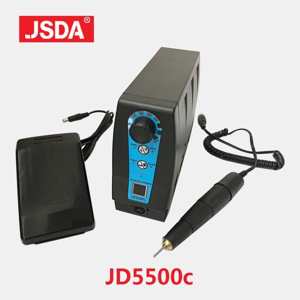 JSDA 35000 tr/min 120W perceuse à ongles électrique pédicure manucure fraiseuse Micro électrique meuleuse prothèse dentaire polissage des perceuses à ongles