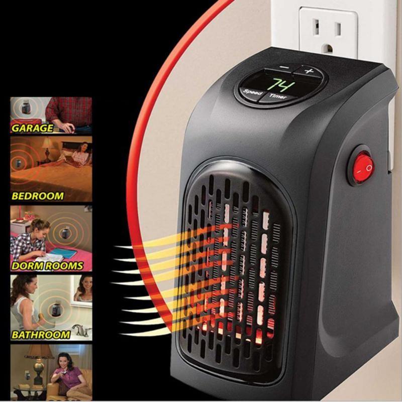 Portable Pratique Plug-Dans Le Mur-Sortie Handy Fan Chauffe Chaud Air Blower Chauffage Mural Cuisine Salle De Bains UE ROYAUME-UNI US Plug Électrique Radiateur