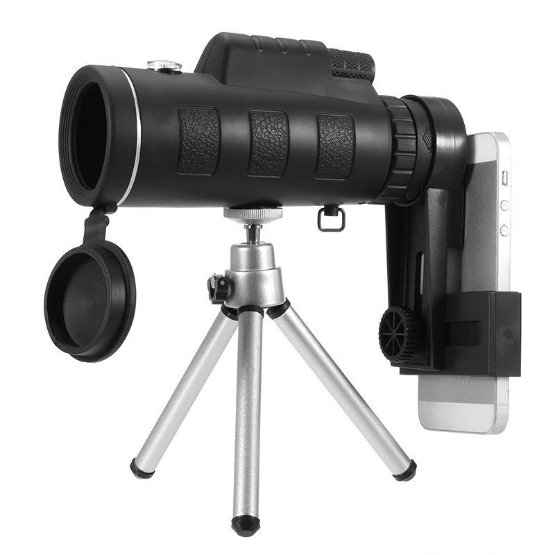 Universal 35X50 Zoom Telescopio Monocular Lente Óptica Armoring Teléfono con Cámara de Lente Clip para Teléfonos Inteligentes Ouedoor Observación de Camping