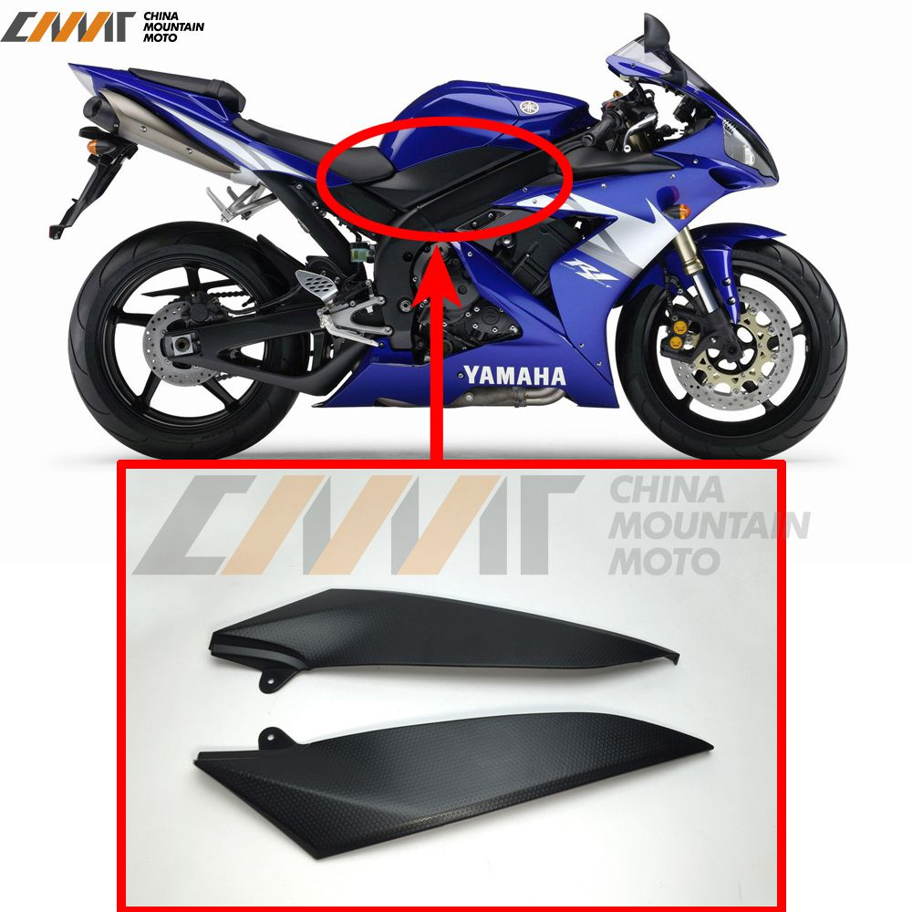Black Tank Side Cover Panel FAIRING Trim Cowl case for YAMAHA YZF1000 R1 2004-2006 2005  YZF R1
