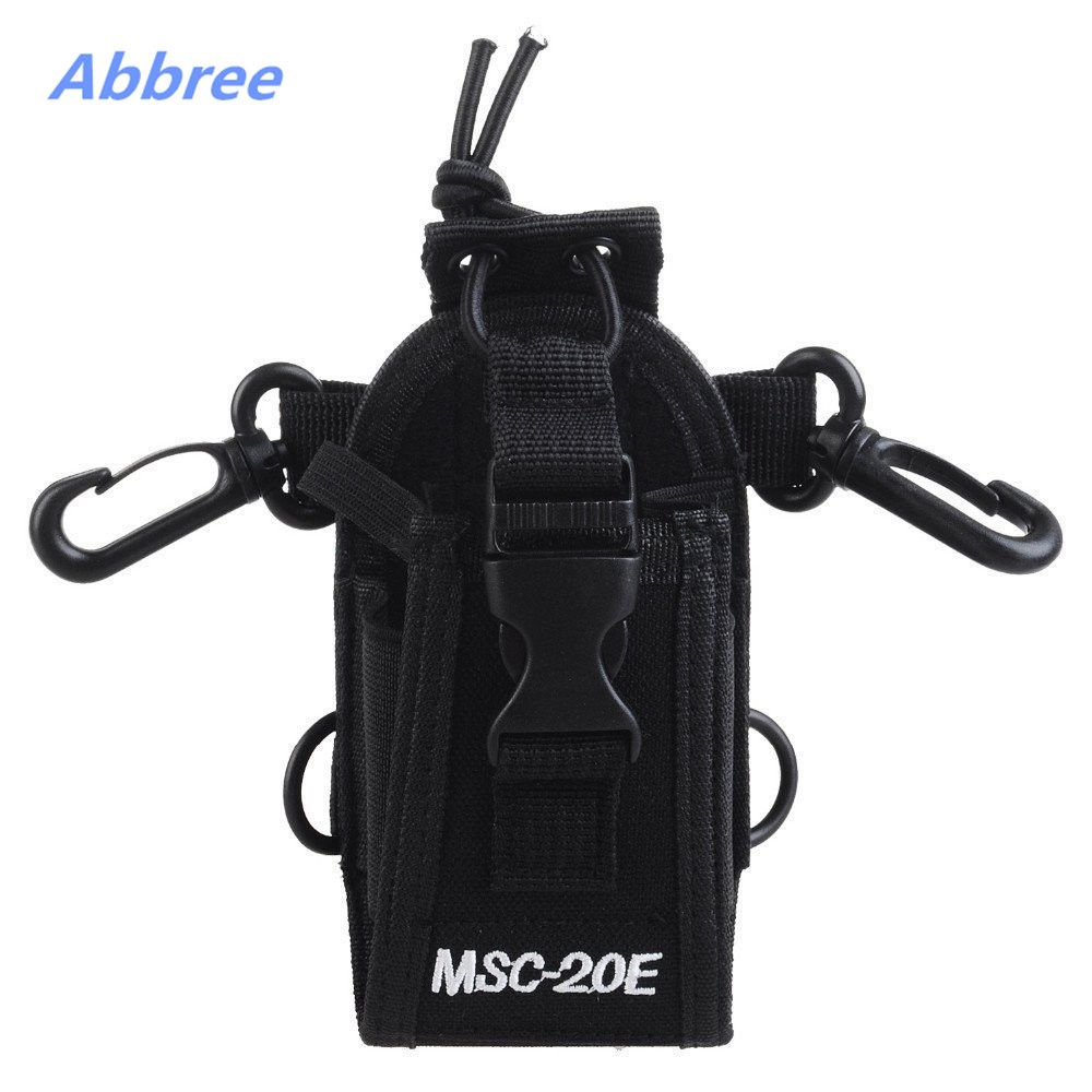 MSC-20E Portable Talkie Walkie Nylon Housse Titulaire Mains Libres pour Baofeng UV-XR UV-9R TYT Woxun Motorola Icom Radio