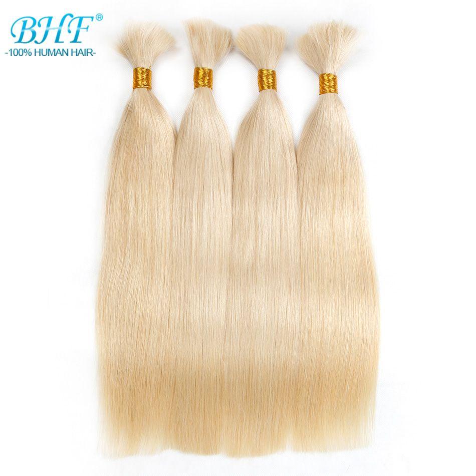BHF Geflecht Menschenhaarmasse Remy Gerade Europäischen Haarmasse Blond Groß 100% Natürlichen Rohes Haar