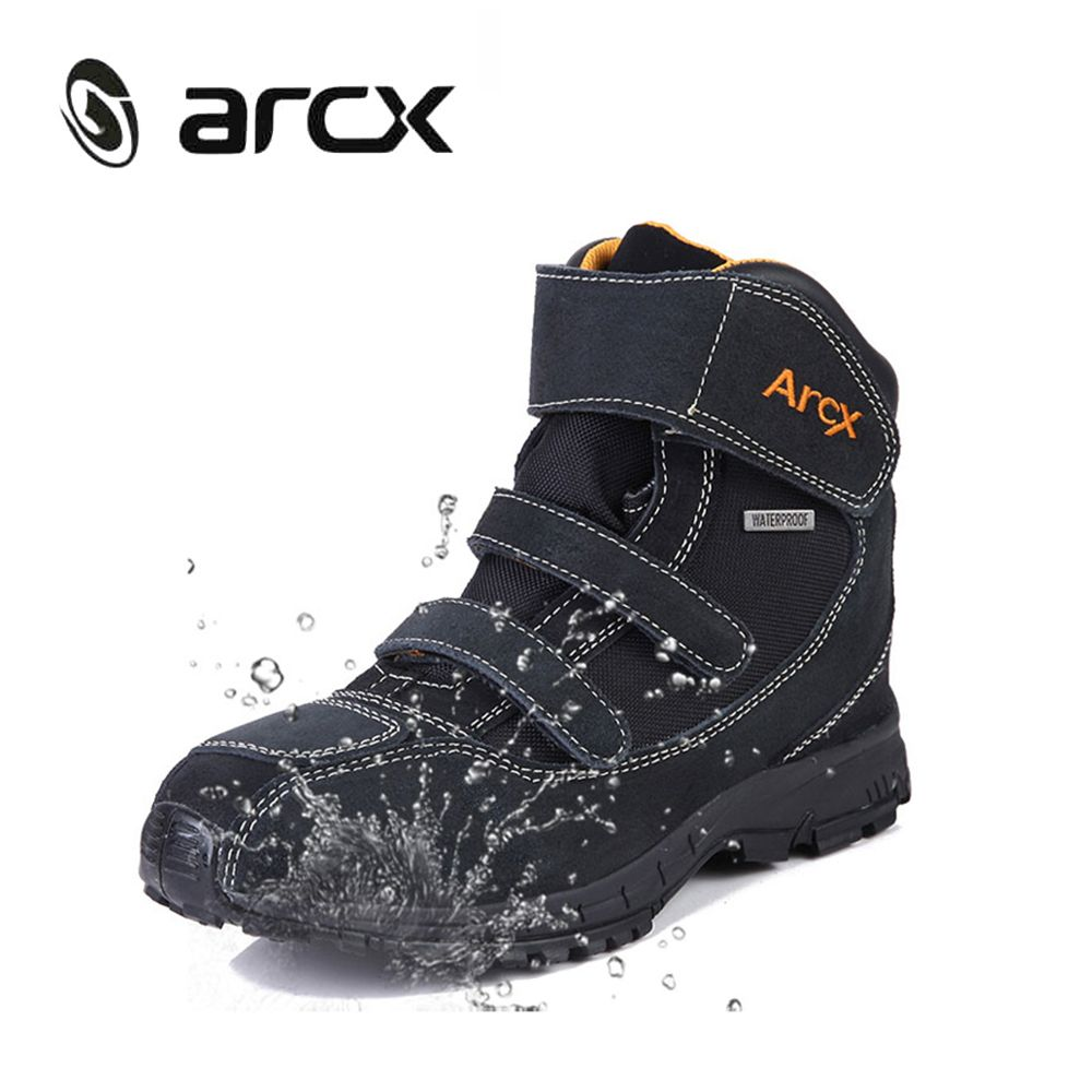 ARCX Motorcycle Riding Boots Genuine Cow Suede Leather Waterproof Street Moto Motorbike Chopper Cruiser Touring Riding Shoes