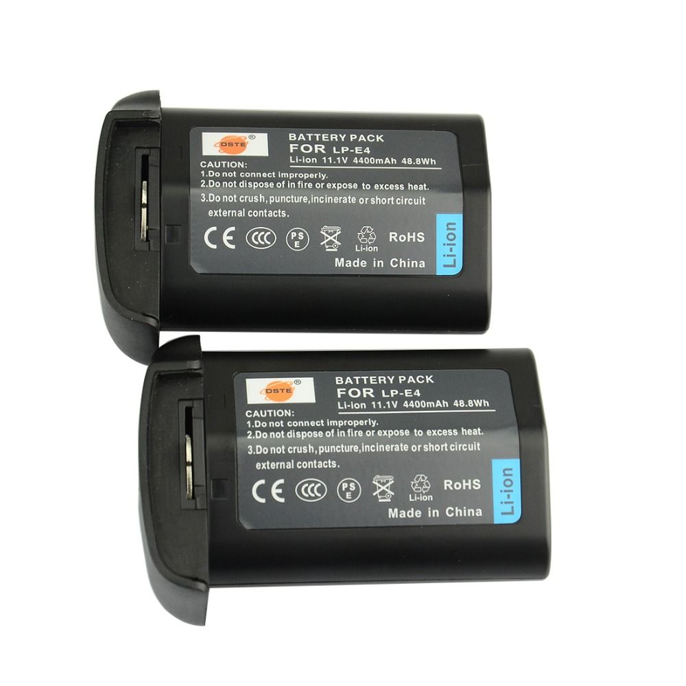 DSTE 2 PCS LP-E4 LPE4 Akku für Canon EOS-1D Mark III 1Ds Mark III 1D mark4 DSLR Kamera