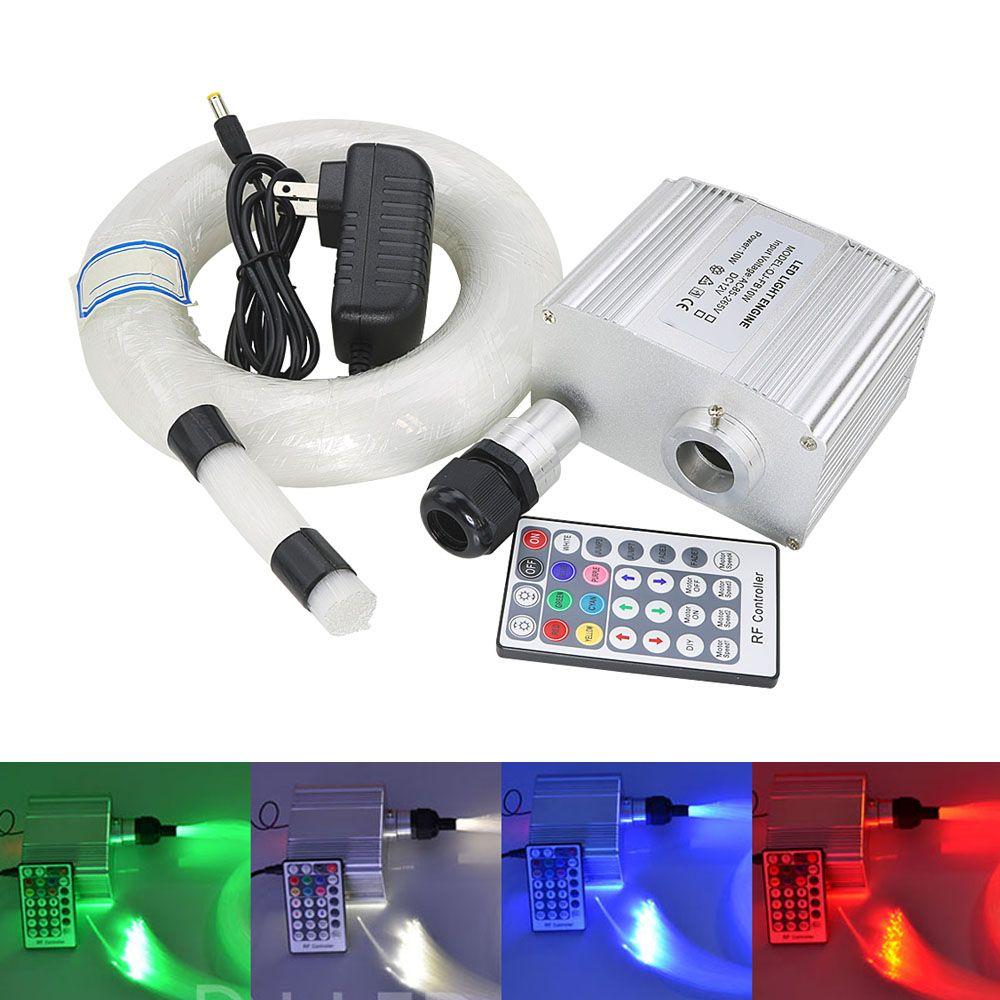 CREE chip 10 watt RGBW twinkle LED lichtwellen sterne sky decke Lichter Kit 200 stücke * 0,75mm * 4 mt optische faser 28Key RF Remote