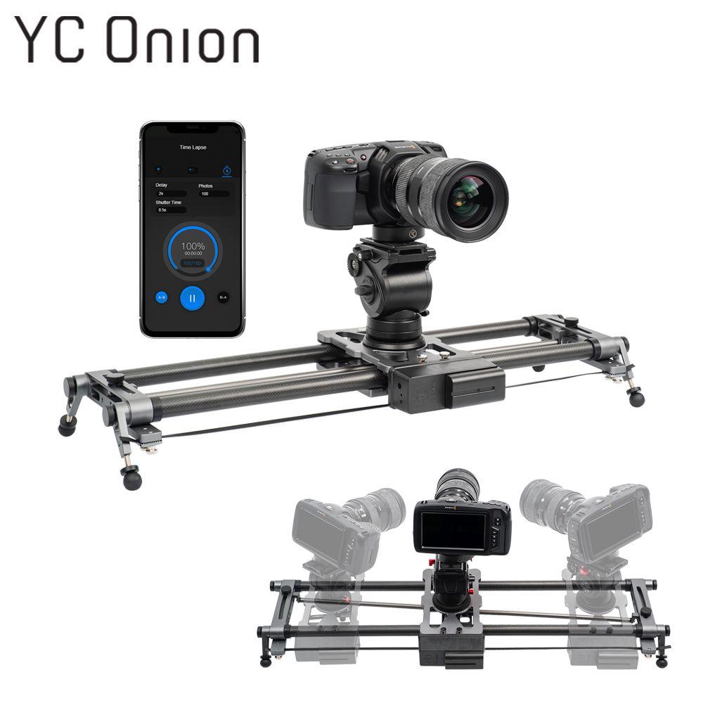 YC ZWIEBEL Track Kamera Slider Carbon Fiber Einstellbare Winkel Rohr Folgen Fokus Pan für Stabilisator DV DSLR Kameras Video Schießen
