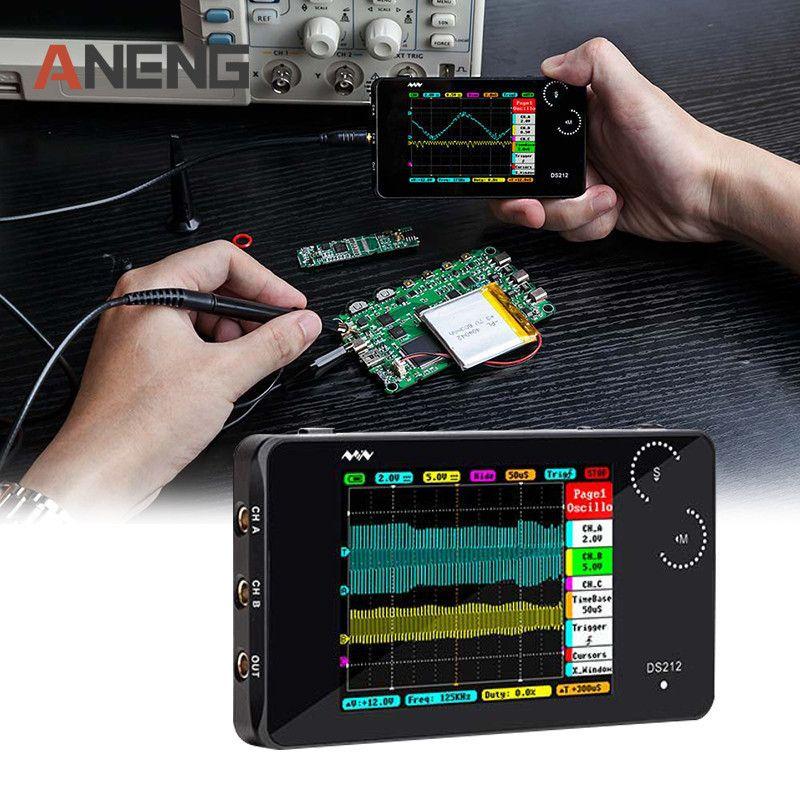Mini ARM DSO212 DS212 Digital Storage Oscilloscope Portable Nano Handheld Bandwidth 1MHz sampling rate 10MSa/s Thumb Wheel