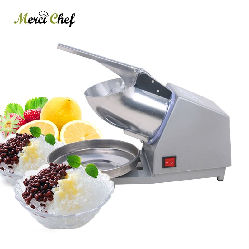 ITOP Electric Ice Crusher Commercial DIY Smoothie Bar Cocktail Ice Crusher Shaver Machine Ice Chopper