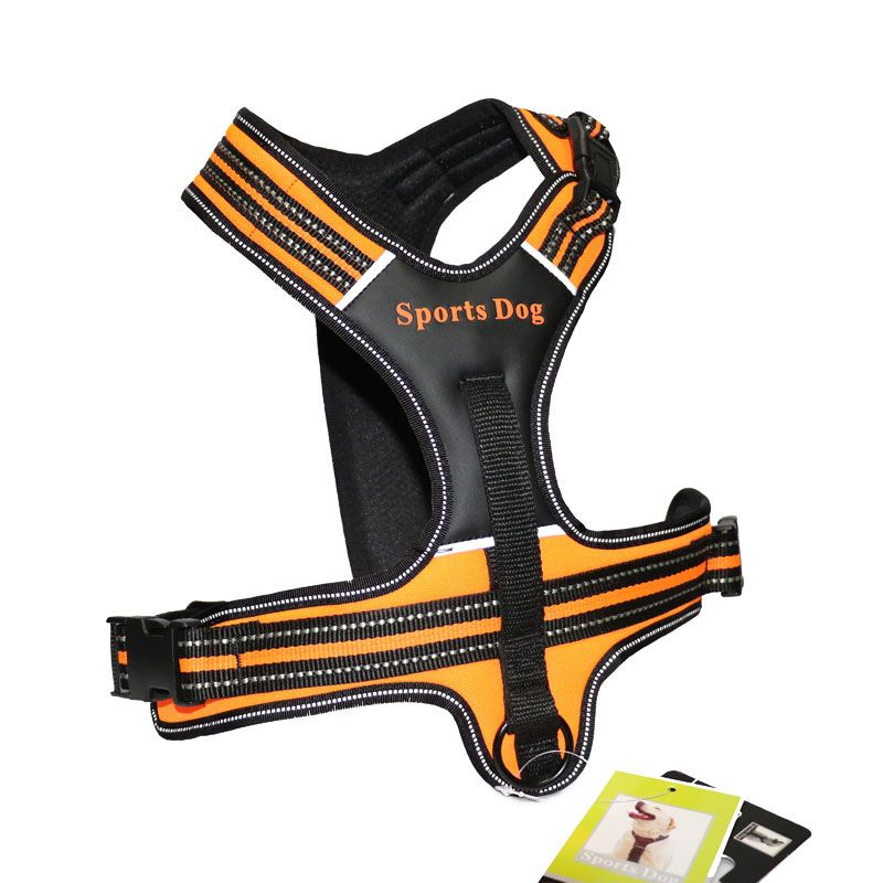 New Dog Collars Leather Pet Dog Harness Pulling Training Chest Harness Large Dog Sport Working Dogs Fit for Husky Pitbull