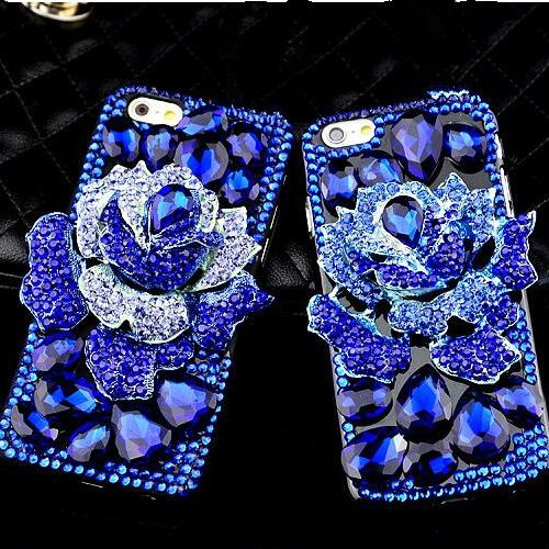 Luxury Lady Diamond Flowers BLUELOVER Bling Case For Samsung Galaxy S8 S8 Plus S6 S7 Edge A5 A7 J3 J5 J7 2016 2017 Phone Cover