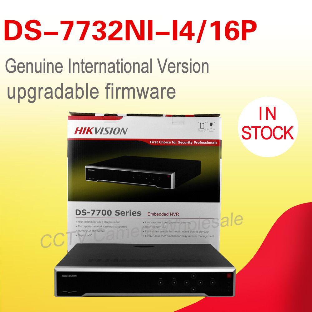 DS-7732NI-I4/16P English version 32CH ALARM NVR with 4 SATA and 16 POE, HDMI up to 4K , ANR, Recording at up to 12 MP H.265
