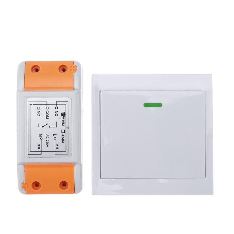 Neue 220 v 315/433 1CH Remote Schalter Empfänger Wand Sender Wireless Power Schalter 315/433 Radio Gesteuert Schalter Relais