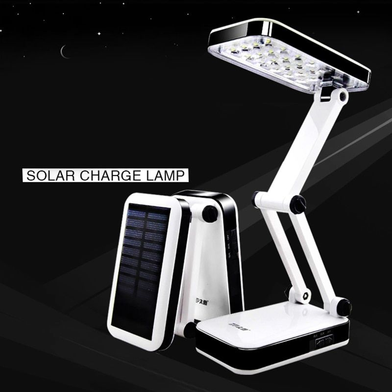 DP Solar battery AC220 rechargeable foldable and Adjustable Desk Lamps  led Table Lamp With 24 LED  Reading Charge lamp