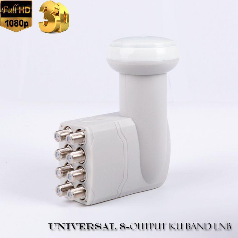 Universel 8 sortie LNB full hd numérique universel bande ku 8 sortie lnb haute qualité original pour tv satellite DVBS2 8 sortie lnb