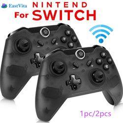 EastVita 1 unid/2 piezas Bluetooth Wireless Controller Pro Gamepad Joypad remoto para Nintendo Switch Console Gamepad Joystick r25