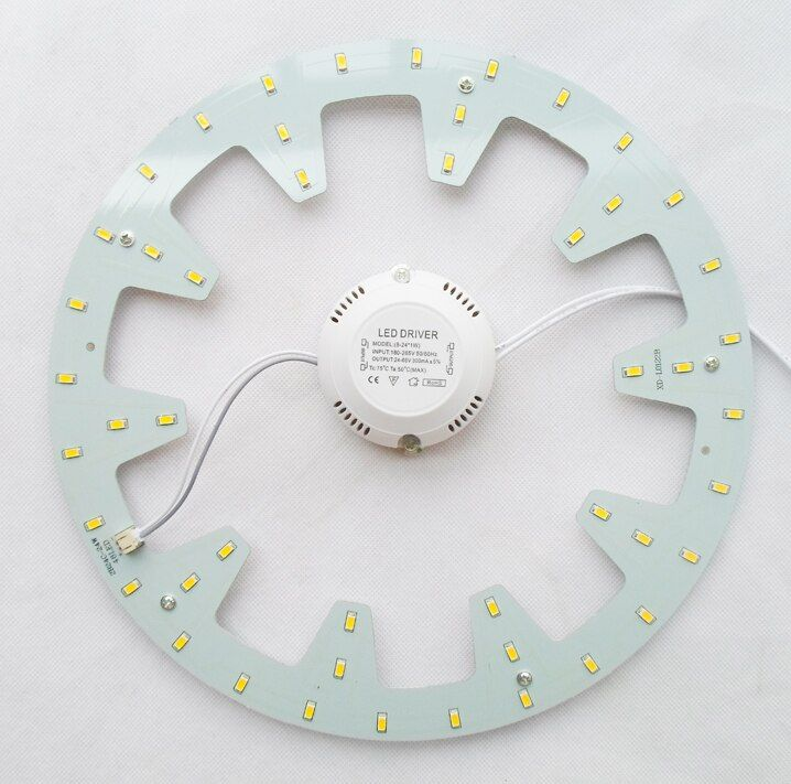 120 V 220 V 230 V 240 V DIY surface monté 24 W led plafonnier ronde led conseil LED circulaire tube techo de LED 2 année garantie