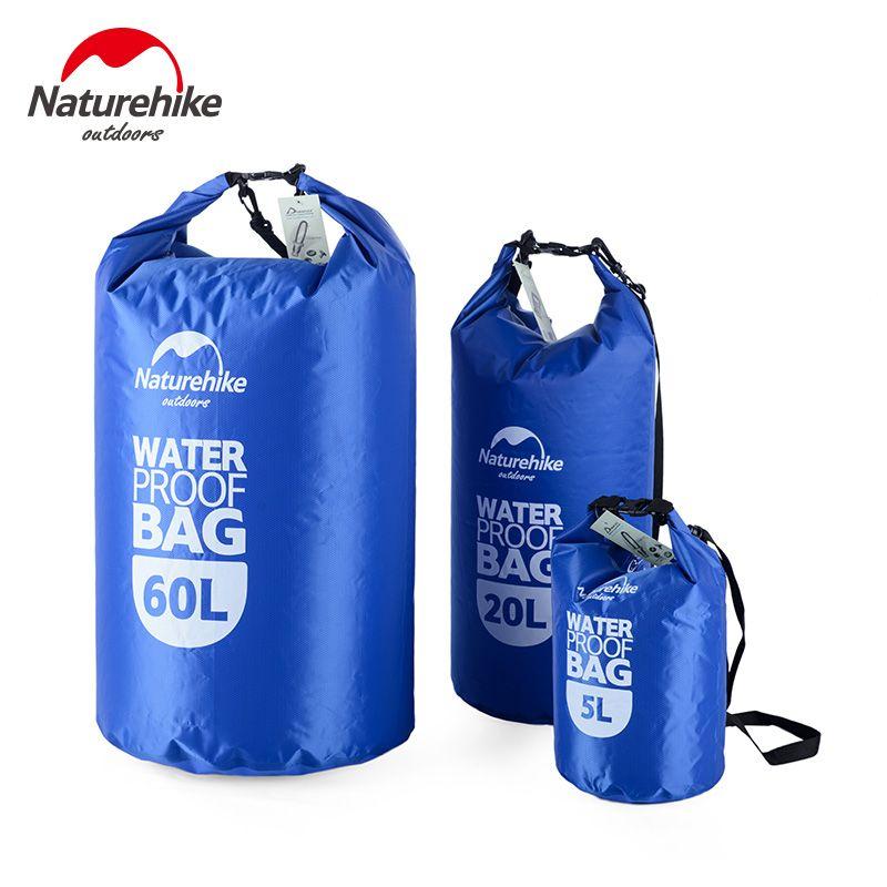 Naturehike 5L 20L 60L Waterproof Bag Storage Dry Sack Bag For Canoe Kayak Rafting Outdoor Sport Bags Travel Kit Equipment