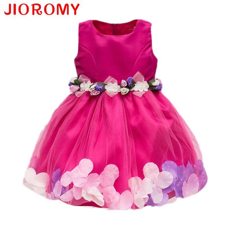Nouveau Mode Sequin Fleur de Partie de Robe D'anniversaire De Mariage Princesse Enfant Bébé Filles Vêtements Enfants Enfants Lycra Robes