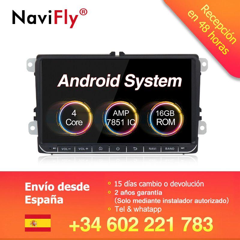 Nouveau! 9 Navigation GPS de voiture Android 8.1 pour VW Volkswagen SKODA GOLF 5 Golf 6 POLO PASSAT B5 B6 JETTA TIGUAN lecteur dvd BT RDS